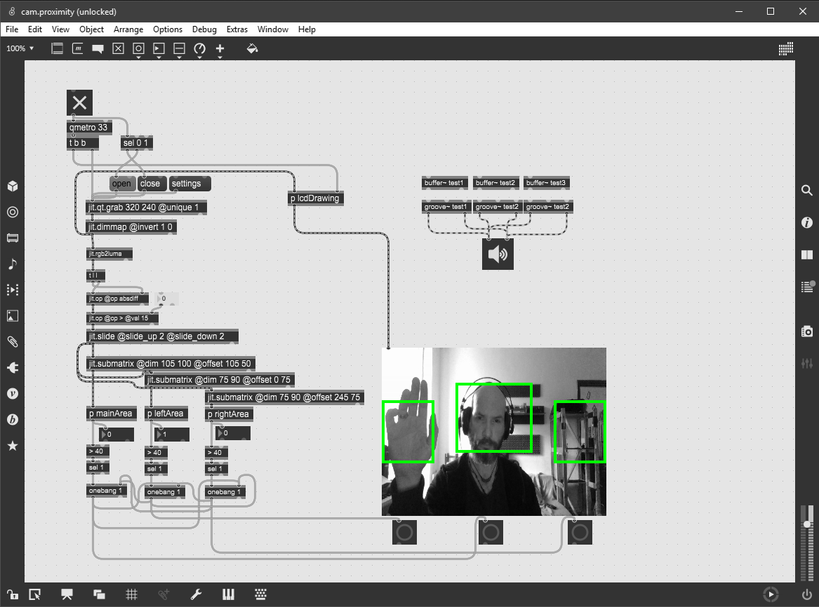 Motion sensor for webcam